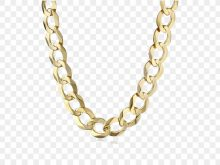 Gold as a necklace. Chain clipart curved