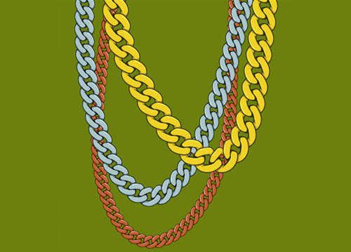 Gold drawing at getdrawings. Chain clipart curved