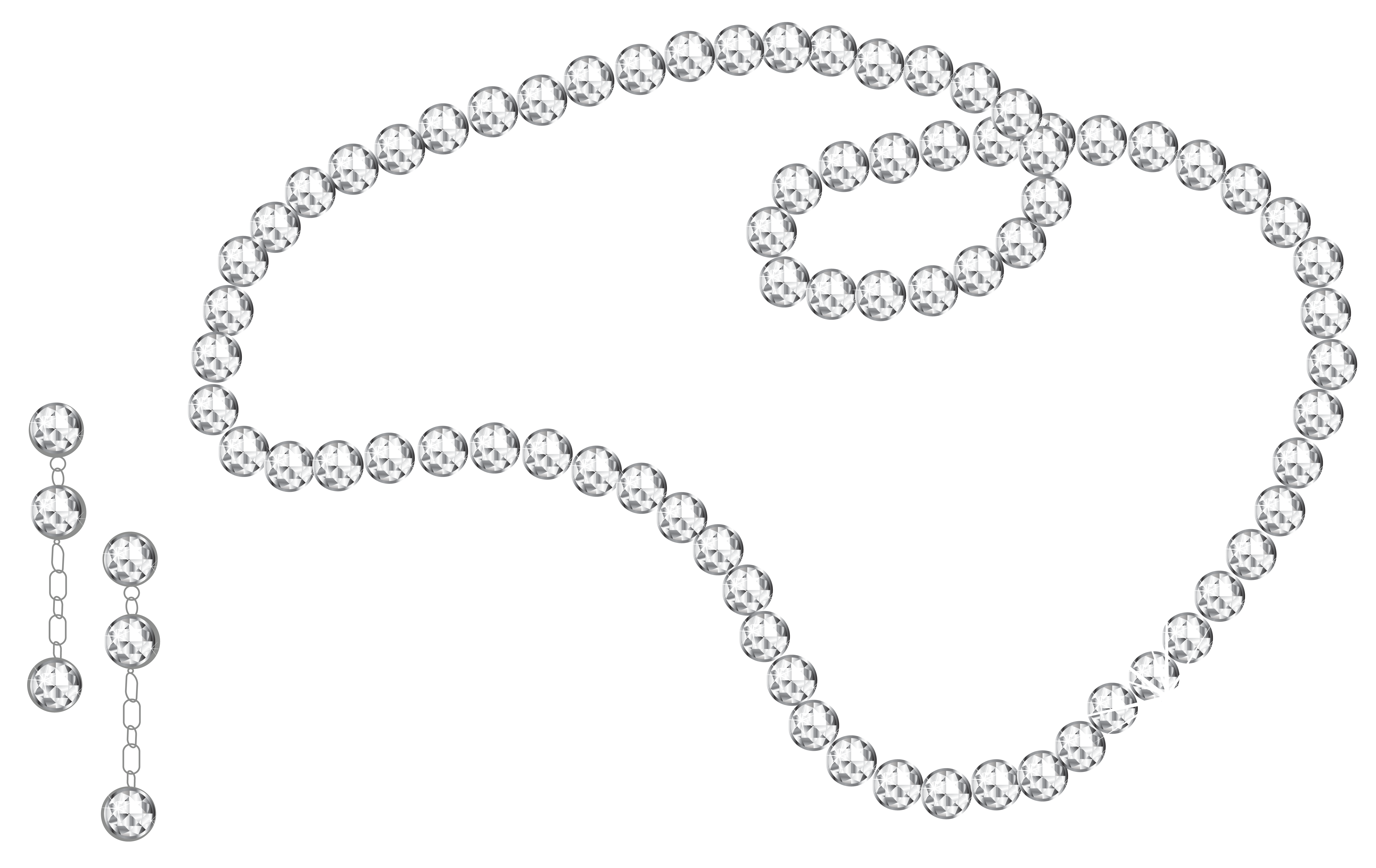 Chain clipart diamond. Necklace and earrings png