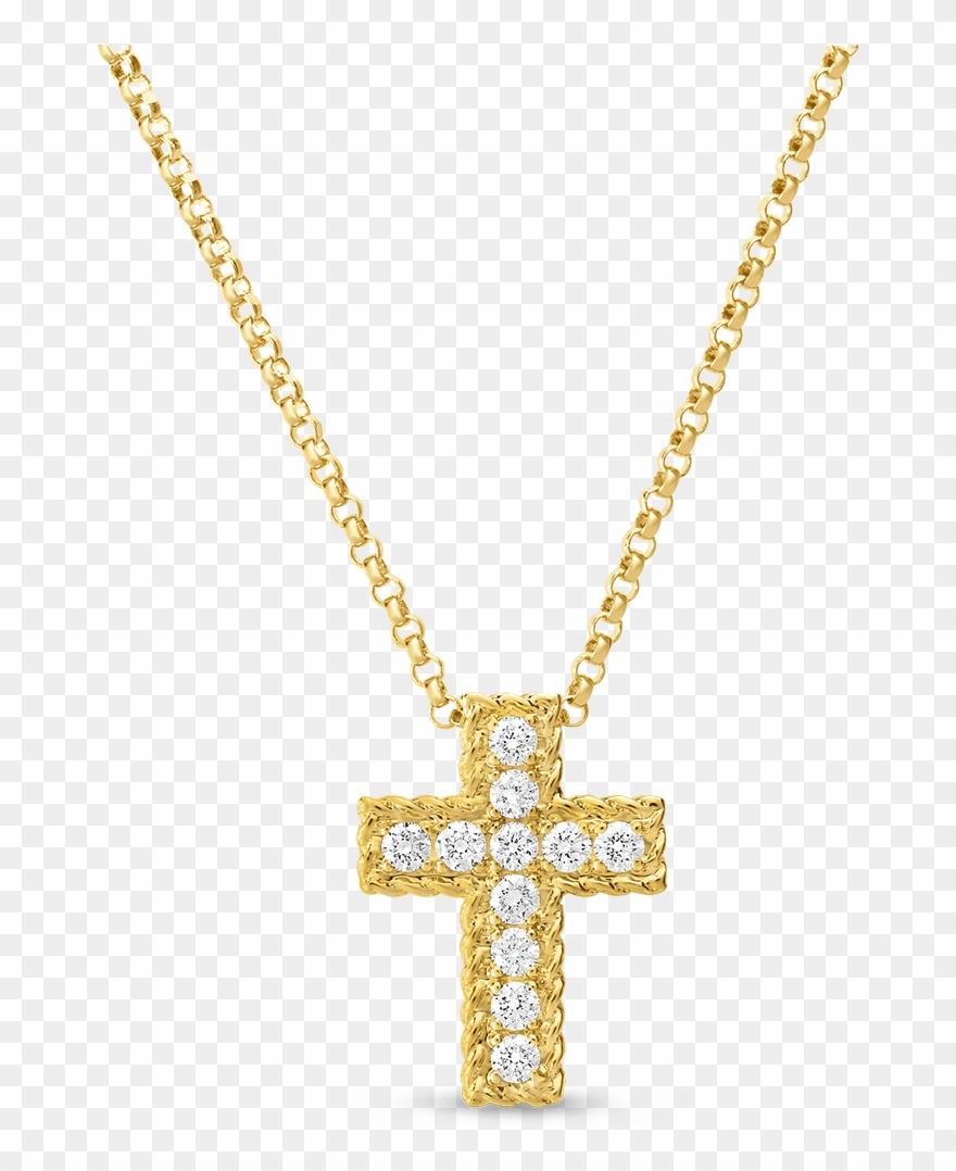 Small cross transparent . Chain clipart diamond