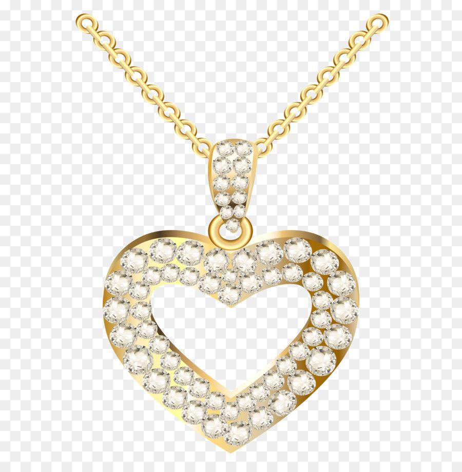 Chain clipart diamond. Necklace heart jewellery pendant