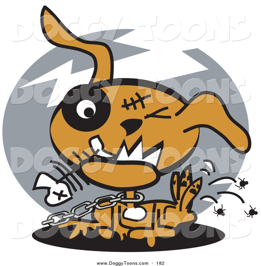 Doggy of an unhappy. Chain clipart dog