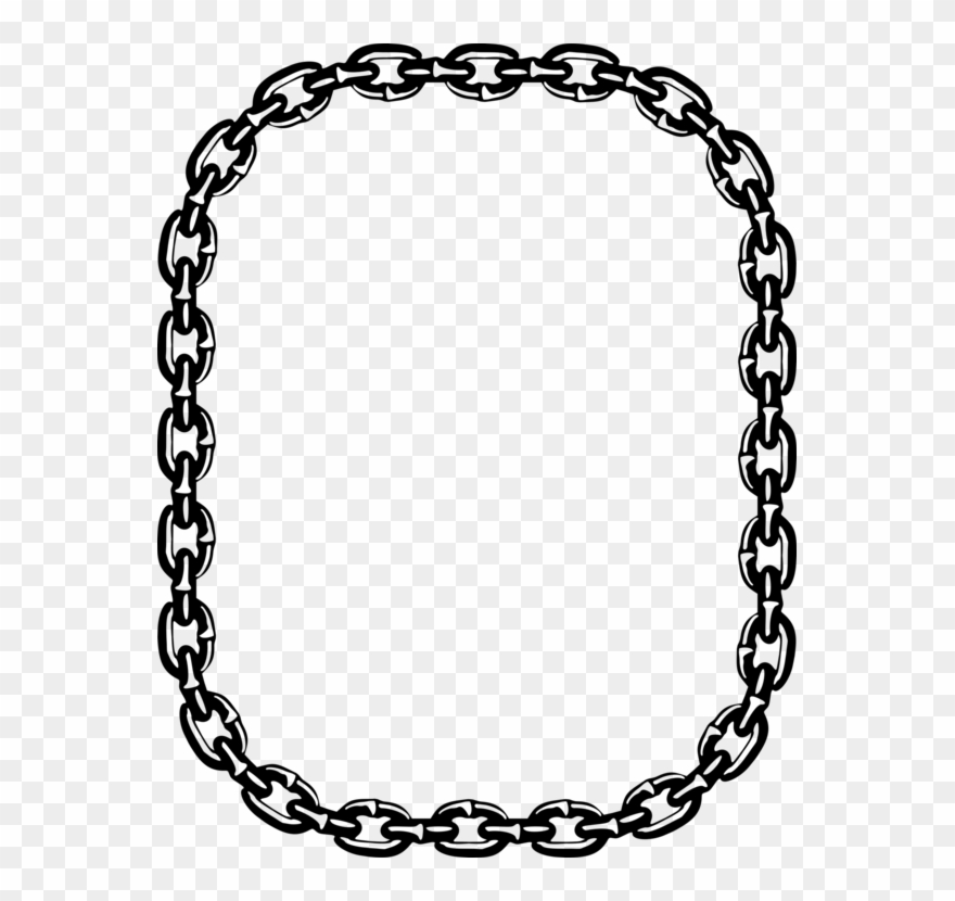 Necklace circle png download. Chain clipart drawing