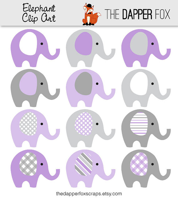 Chain clipart elephant. Purple and grey clip