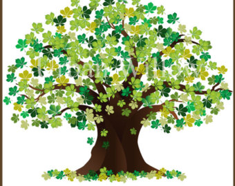 Beautiful tree design tall. Chain clipart family