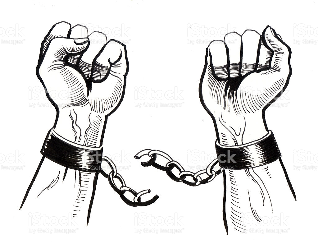 collection of chains. Chain clipart hand