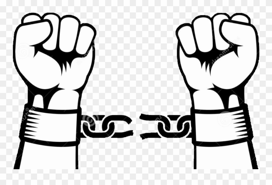 Download hands breaking a. Chain clipart hand