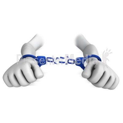 Chain clipart handcuff. Hands break chains of