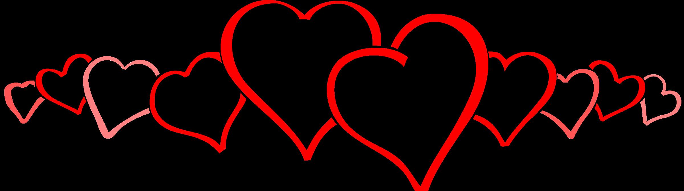 Clipart heart banner. Hearts