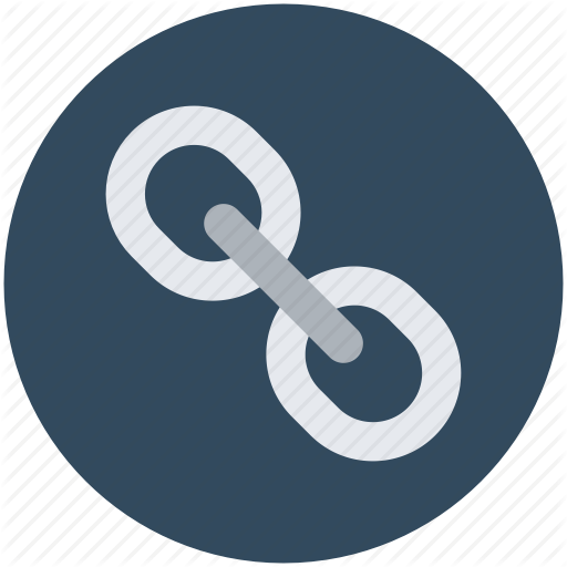 Chain clipart linkage. Link hyperlink web icon