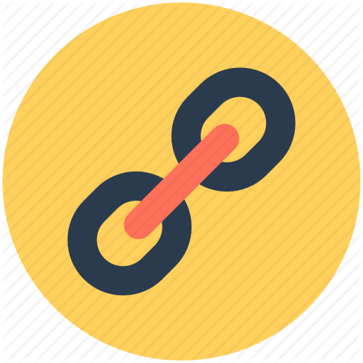 Link hyperlink web icon. Chain clipart linkage