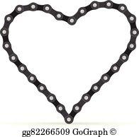Chain clipart linked. Vector stock bike illustration