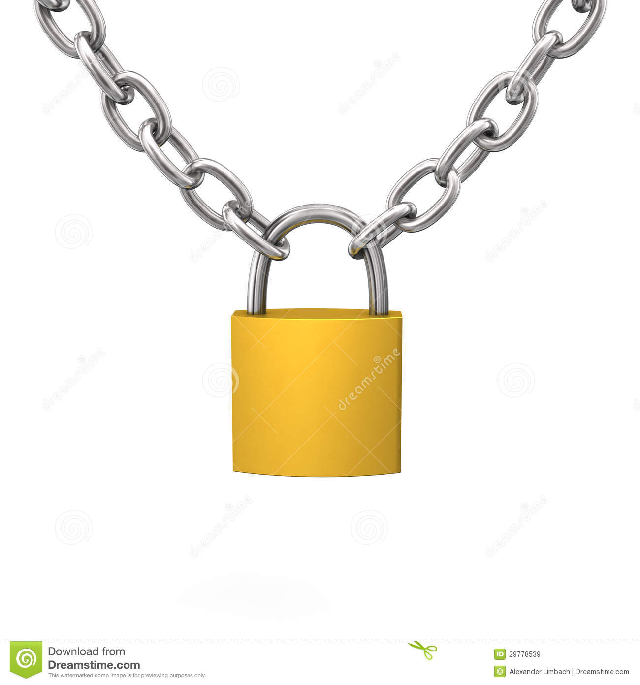 And . Chain clipart lock