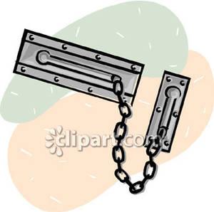 A silver door panda. Chain clipart lock