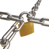 Chain clipart lock. Stock illustrations royalty free