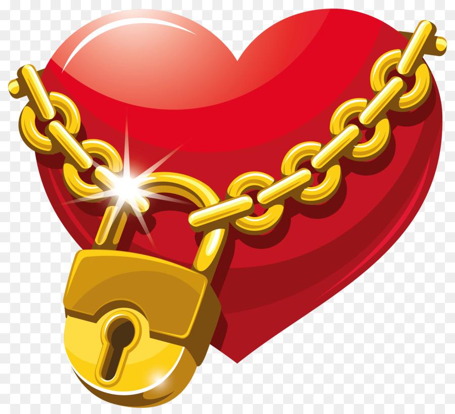 Chain clipart lock. Heart royalty free clip