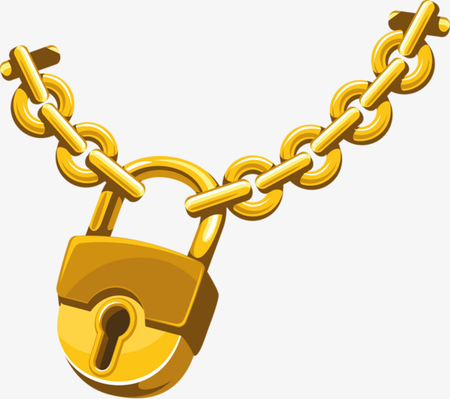 Chain clipart lock. Gold chains png image