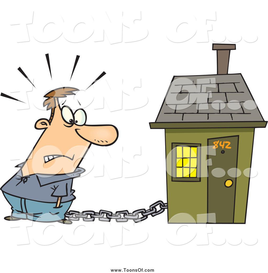 Of a cartoon caucasian. Chain clipart man