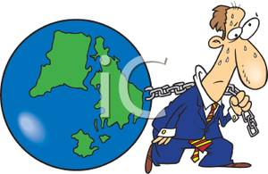 A carrying earth like. Chain clipart man