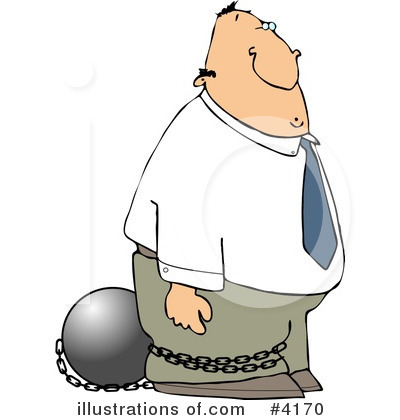 Criminal illustration by djart. Chain clipart man