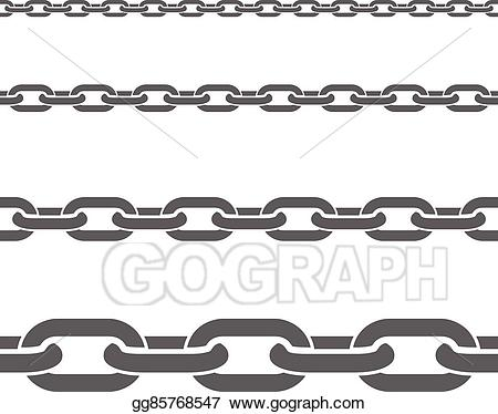 Vector art chains horizontal. Chain clipart metal chain