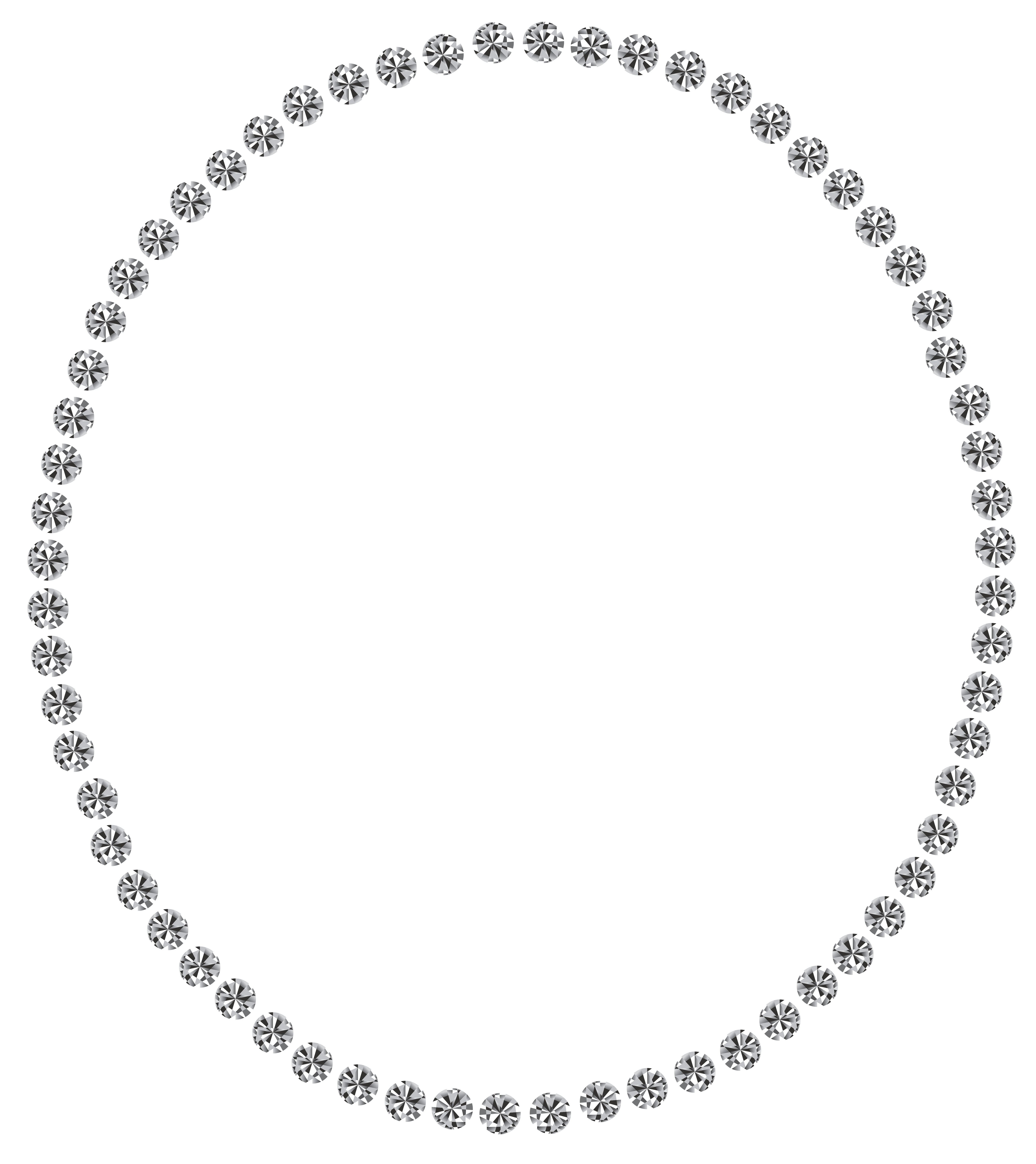 Oval decoration png image. Diamonds clipart circle