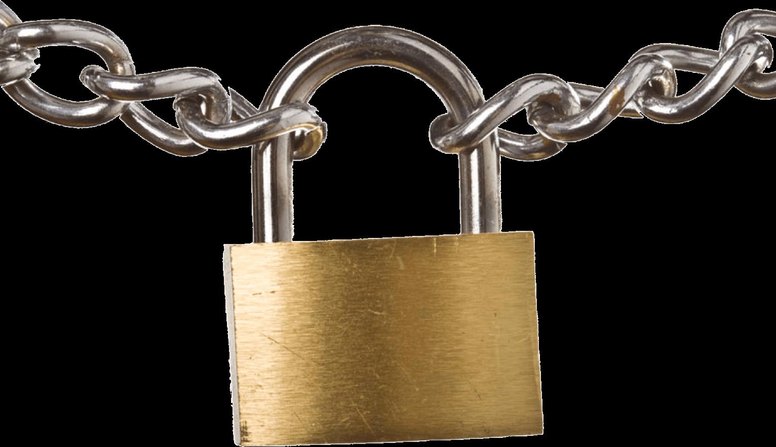 Padlock and keys transparent. Lock clipart lock chain
