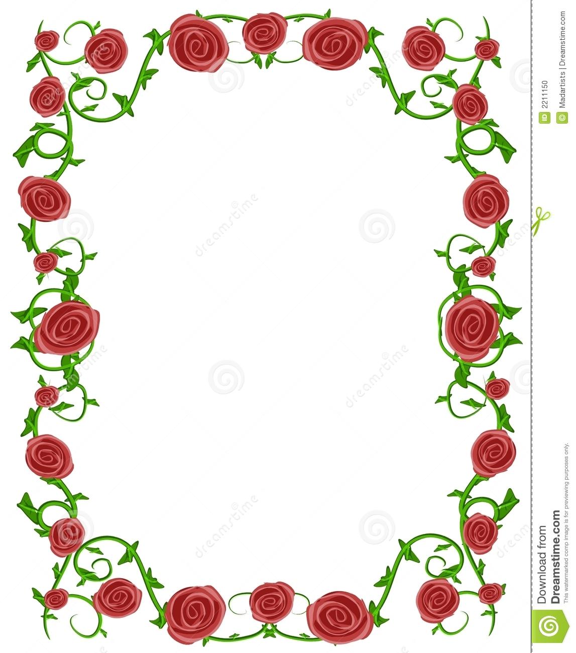 Frame . Chain clipart rose