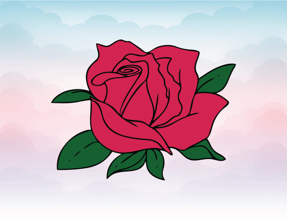 Chain clipart rose. Svg blossom clip art