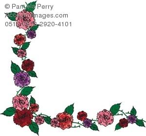 Chain clipart rose. Victorian clip art border