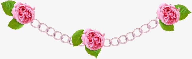Chain clipart rose. Flower golden png image