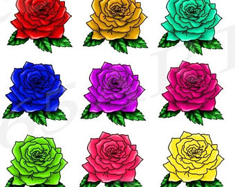 Svg silhouette blossom clip. Chain clipart rose