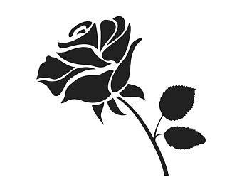 Chain clipart rose. Etsy