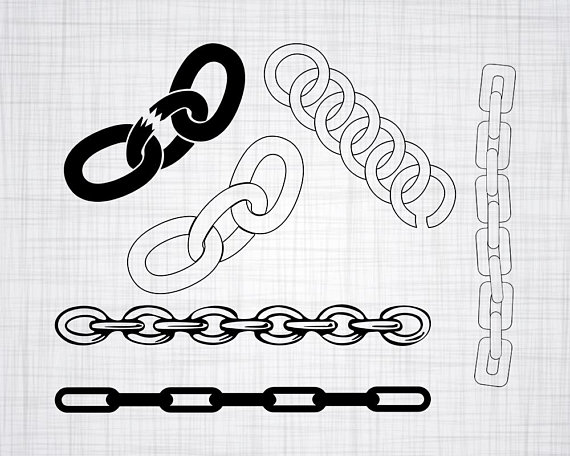 Chain clipart silhouette. Svg bundle cut files