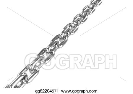 Chain clipart steel chain. Drawing render stainless gg