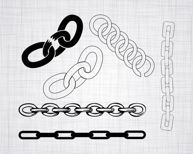 Bundle cut files for. Chain clipart svg