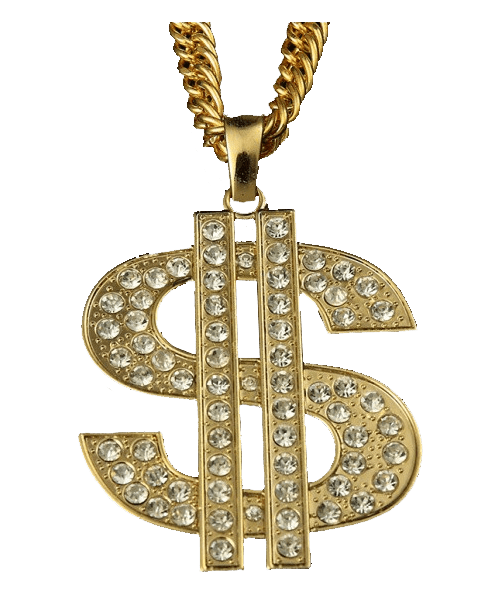 Life dollar sign transparent. Chain clipart thug