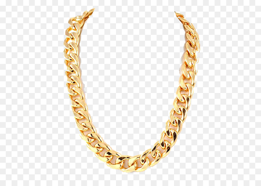 Gold necklace life png. Chain clipart thug