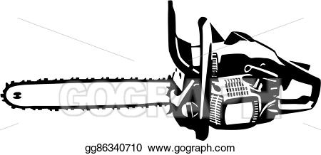 Chainsaw clipart. Vector stock illustration isolated