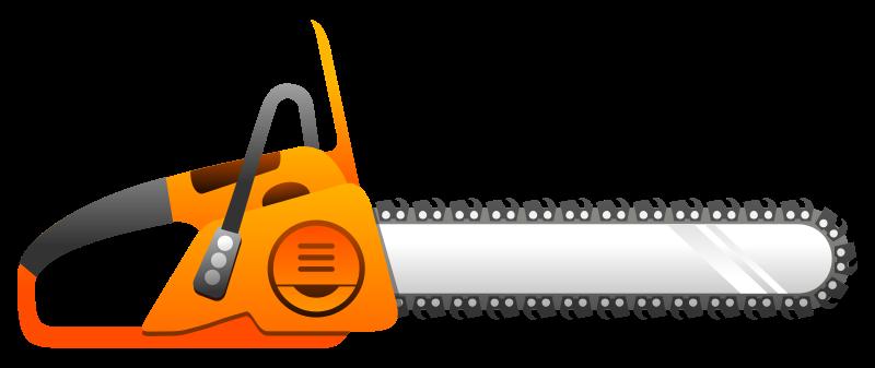 . Chainsaw clipart