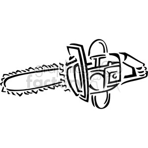 Chainsaw clipart black and white. Royalty free vector clip