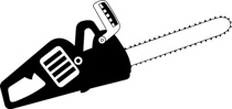 Chainsaw clipart black and white. Free objects outline clip