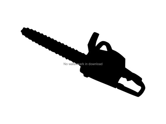 Vector image printable file. Chainsaw clipart clear cutting