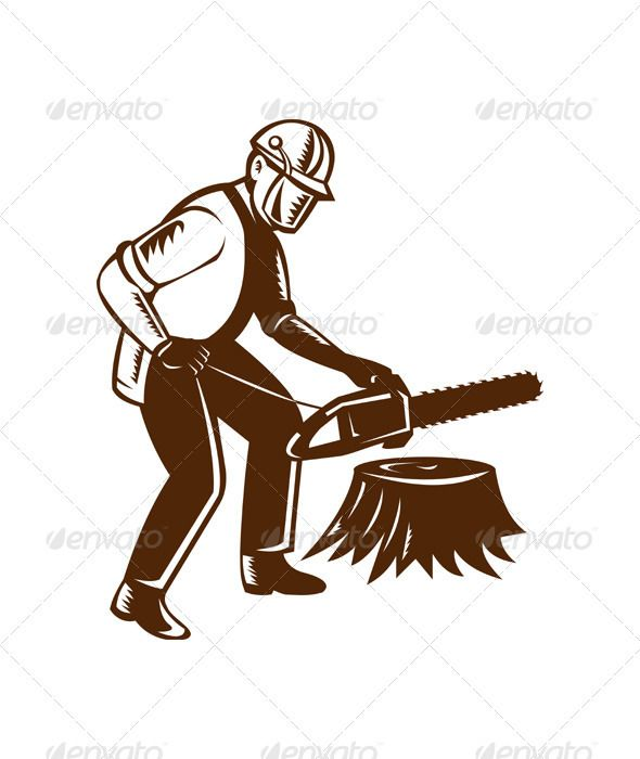 Chainsaw clipart clear cutting. Pin on design art