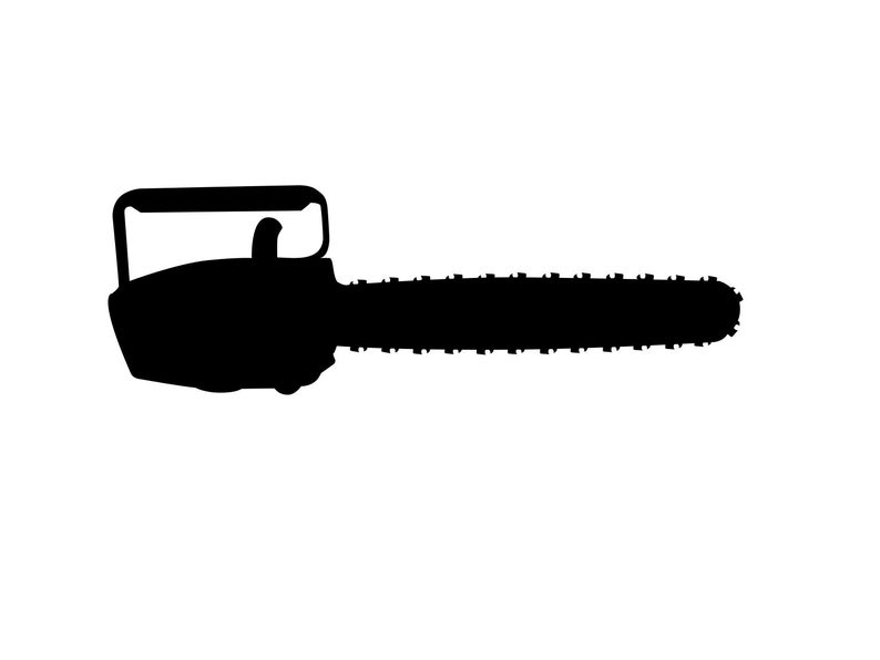 Chainsaw clipart power tool. Svg dxf instant download