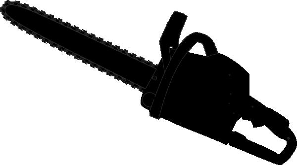 Black outline clip art. Chainsaw clipart silhouette