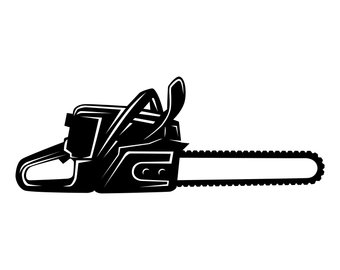 Art etsy svg silhouettesvggraphicsillustrationvectorlogo. Chainsaw clipart silhouette