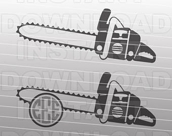 Etsy logging svg file. Chainsaw clipart silhouette