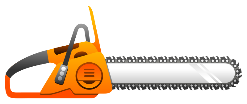 awesome stihl gd. Chainsaw clipart simple