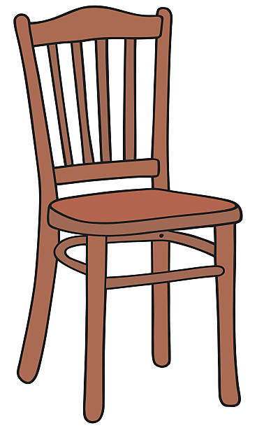 Wooden station. Clipart chair